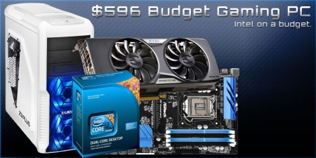 Budget Gaming PC Build Using Intel for $596 - February, 2015
