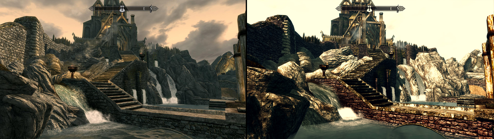 Best Skyrim Graphics Mods: Before and After | GamersNexus