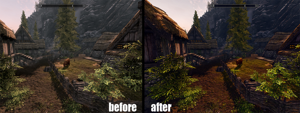 Skyrim Ultra Realistic Graphics Mod скачать