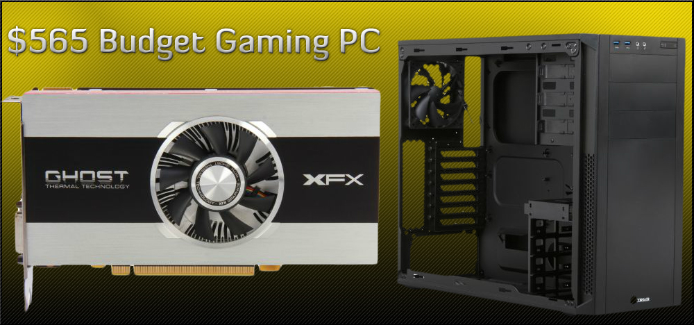 $565 DIY Budget Gaming PC Build - November, 2012