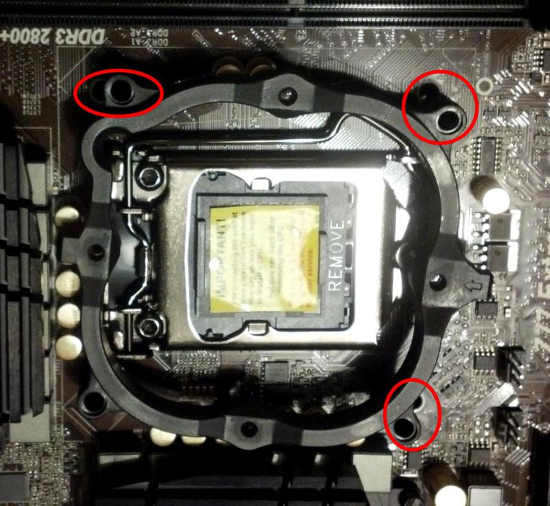 Modding an LGA775 Bracket to fit an LGA1155 Socket (CNPS