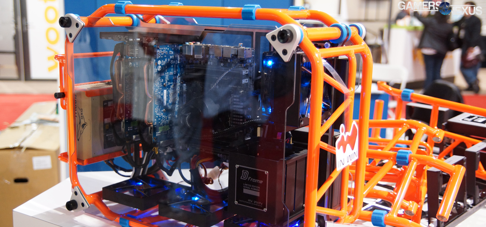 in win s open air d frame diy gaming pc case build it yourself