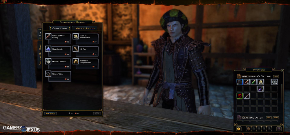 Neverwinter MMORPG Character Creation Preview & Settings