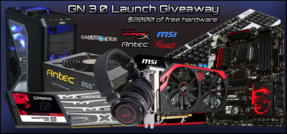 GN 3.0 Celebration: We're Giving Away Nearly $2000 of PC Hardware