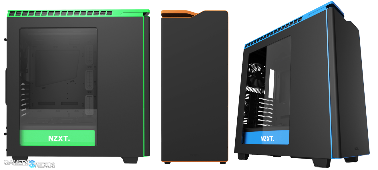 Nzxt H440 Now Available In Blue Orange Green On Black