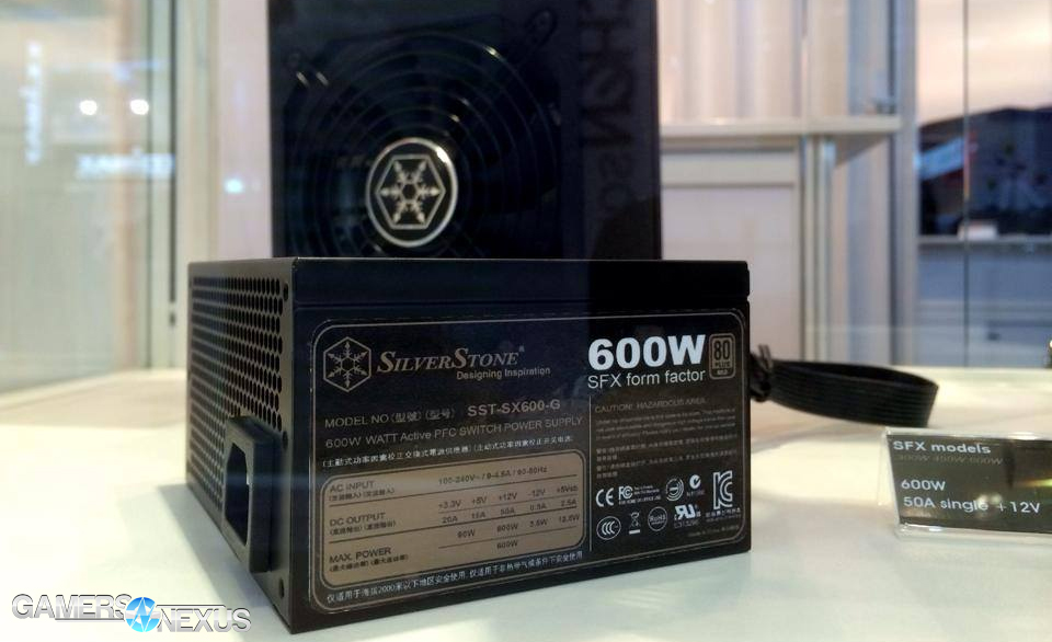 SilverStone Unveils 600W 80 Plus Gold SFX PSU for HTPCs