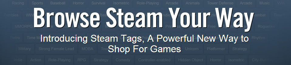 Steam Adds Tagging System - Connects Users with Games