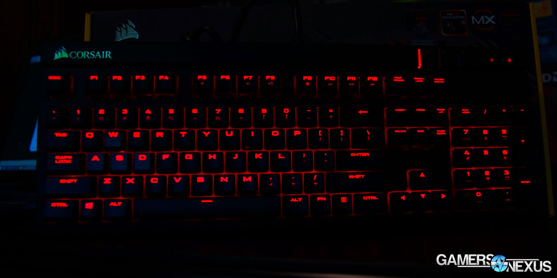 Corsair Strafe Mechanical Gaming Keyboard Review - MX Red
