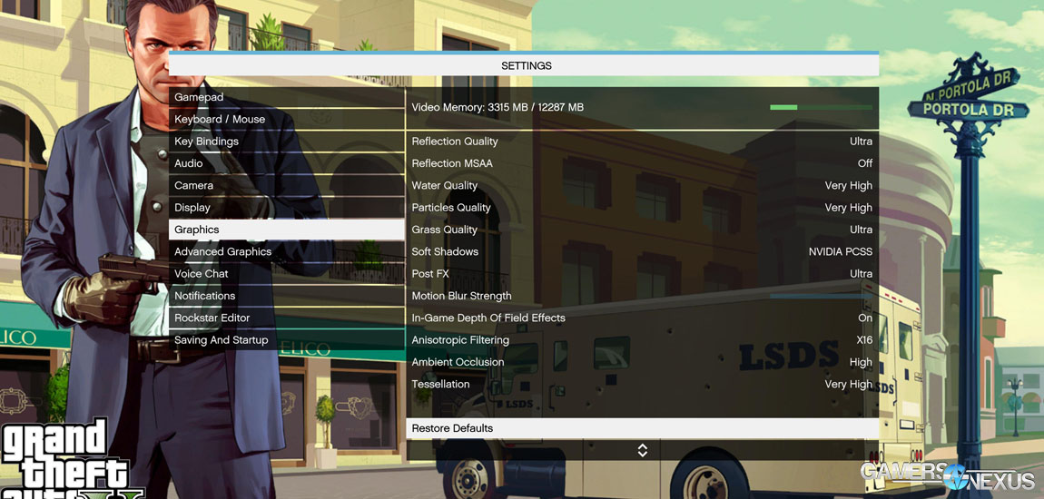 GTA V Texture Quality Screenshot Comparison & Performance Impact