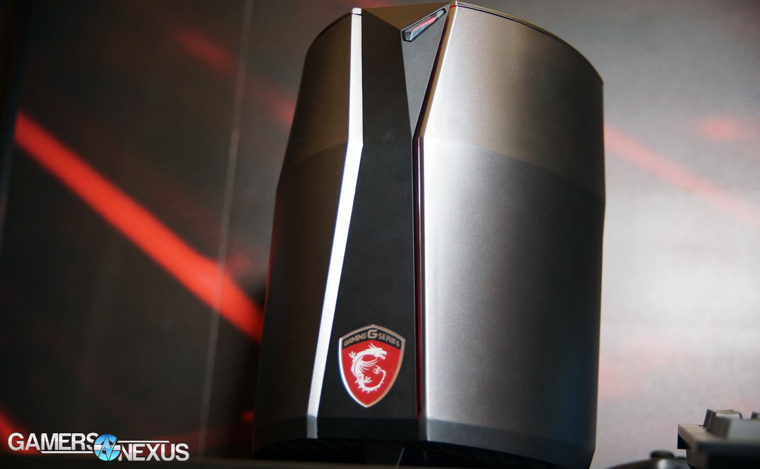 """CES Hands-On: MSI Vortex """"Trashcan"""" Form Factor Gaming PC"""