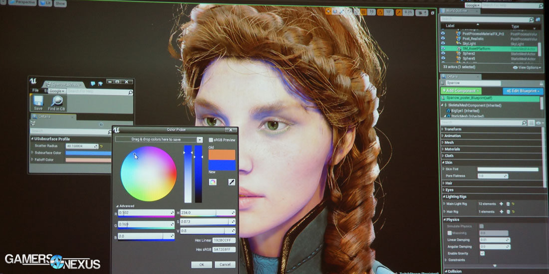 Paragon Rendering Technology Subsurface Scattering Hair Lighting