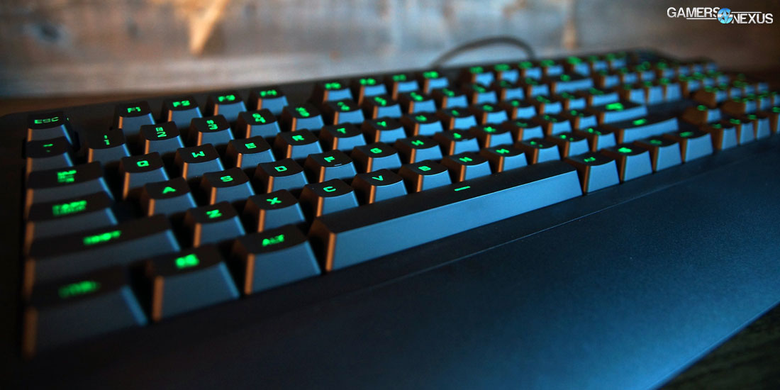 Logitech G213 Prodigy Membrane Keyboard Review Gamersnexus Gaming Pc Builds Hardware Benchmarks