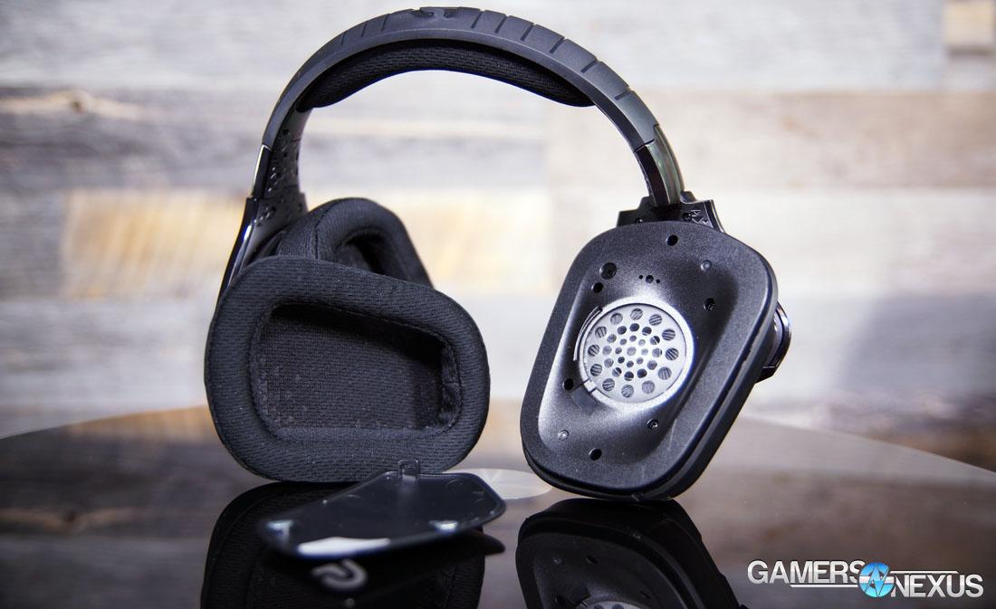 Logitech G633 Artemis Spectrum RGB Headset Review | GamersNexus ...