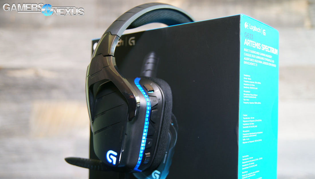 Logitech G633 Artemis Spectrum Rgb Headset Review Gamersnexus Gaming Pc Builds Hardware Benchmarks