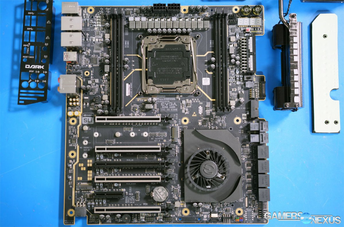 EVGA X299 DARK Motherboard Thermal Review: Someone Finally Gets It