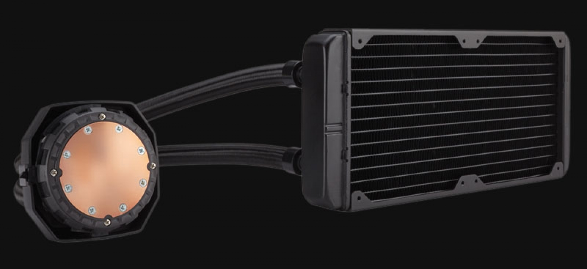 Corsair's alleged H100i GTX, as leaked by inet.se.