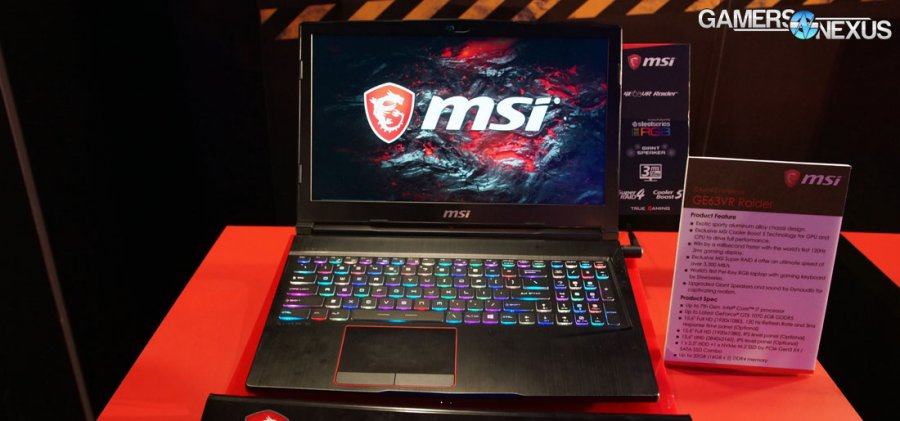 MSI's 120Hz GS63VR, GE63, & NVIDIA Max-Q 40dBA Requirement