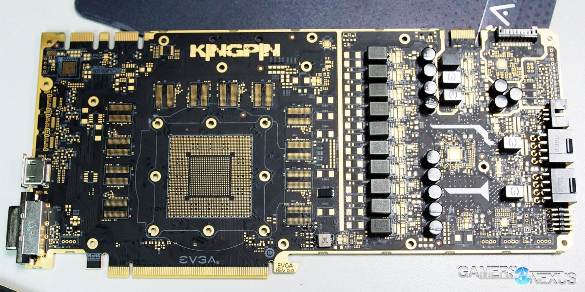 EVGA 1080 Ti Kingpin In-Depth: VRM Components, Tear-Down, & Cooling