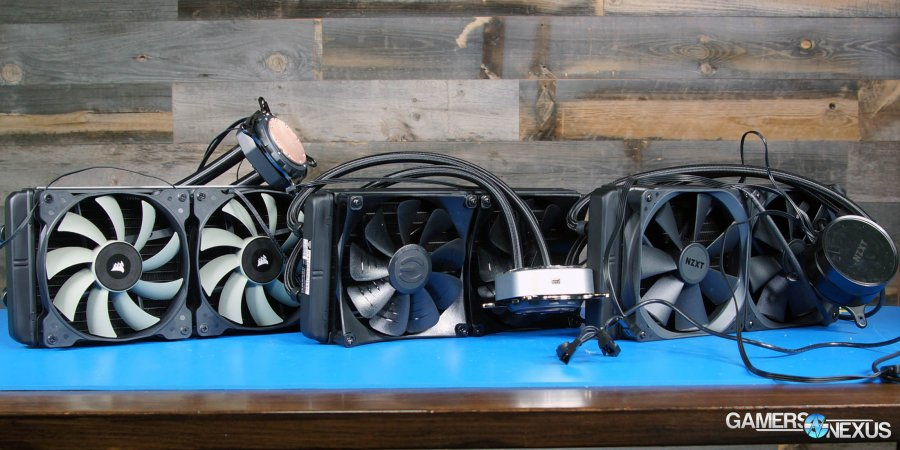 EVGA CLC 280mm Review vs. NZXT X62, Corsair H115i