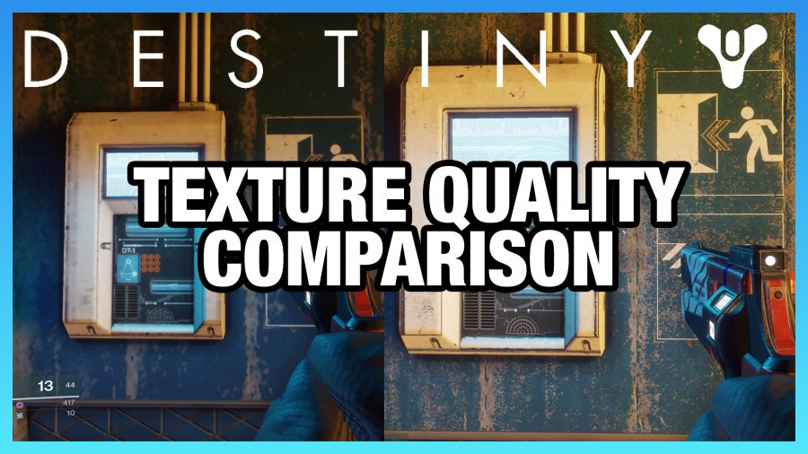 Destiny 2 Texture Quality Comparison