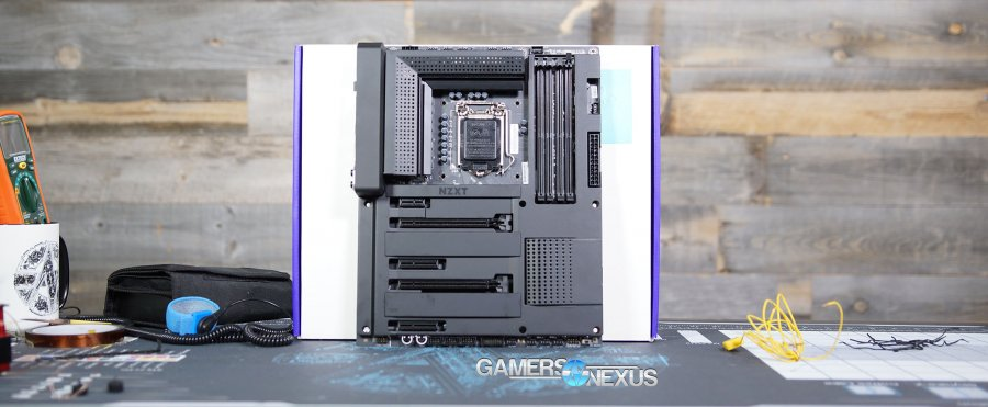 NZXT's First Motherboard: The N7 Z370 at CES 2018