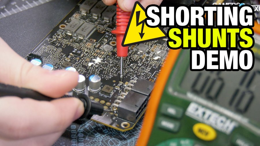 How to Short Shunts to Increase Power Budget for Overclocking (Titan V)