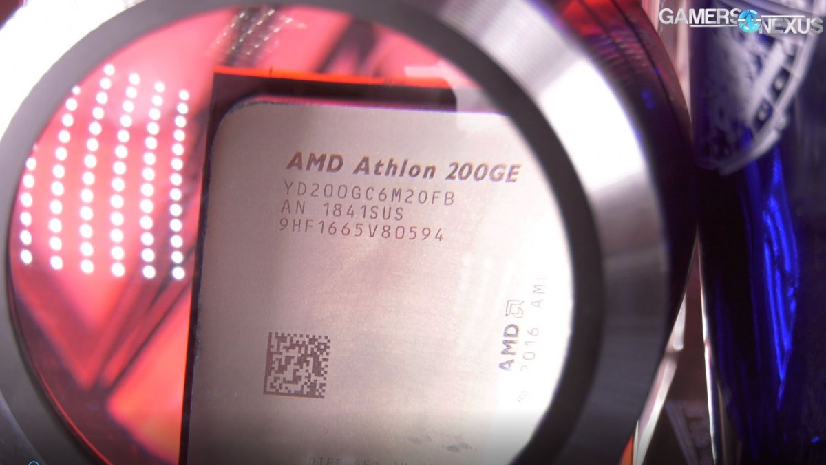 AMD Athlon 200GE Review & 3 9GHz Overclocking | GamersNexus