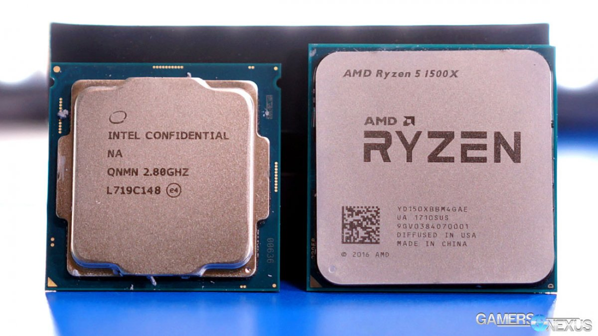 Intel i5-8400 vs. R5 1500X Game Streaming Benchmarks