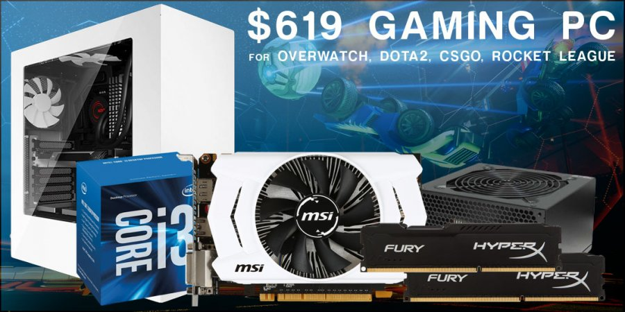 Budget Gaming PC Build for Overwatch, Rocket League, & CSGO - $619