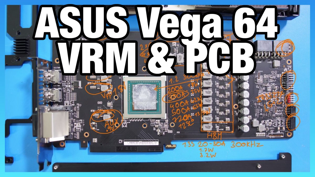 ASUS ROG Strix Vega 64 PCB & VRM Analysis [Video]