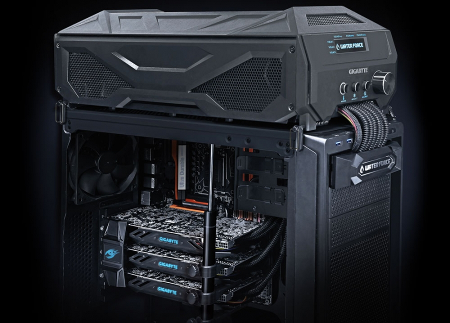 Gigabyte Launches $3000 3-Way GPU Suite with Liquid Cooling