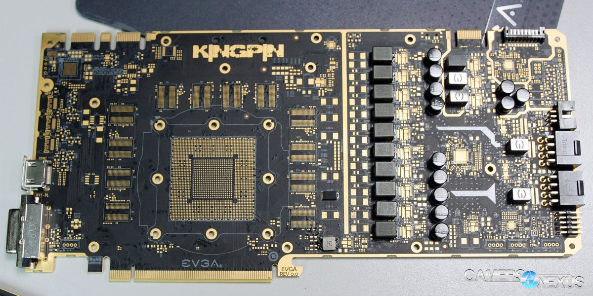 EVGA GTX 1080 Ti Kingpin PCB & VRM Analysis | GamersNexus