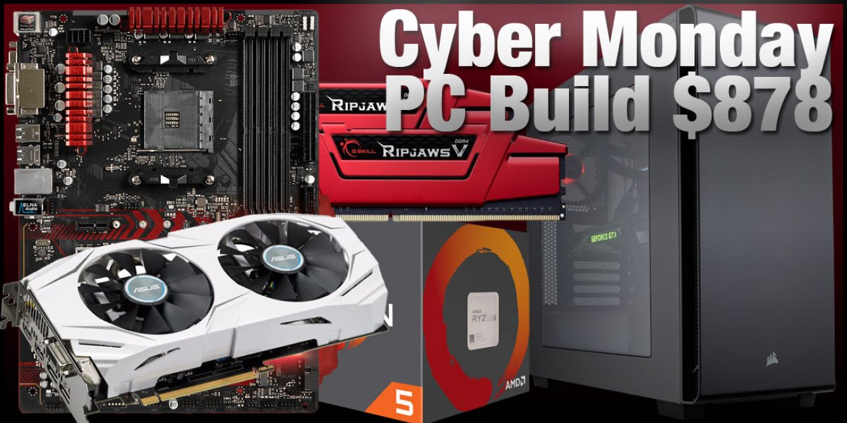 R5 1600 & GTX 1060 DIY Gaming PC Build for Under $1000 (Cyber Monday)