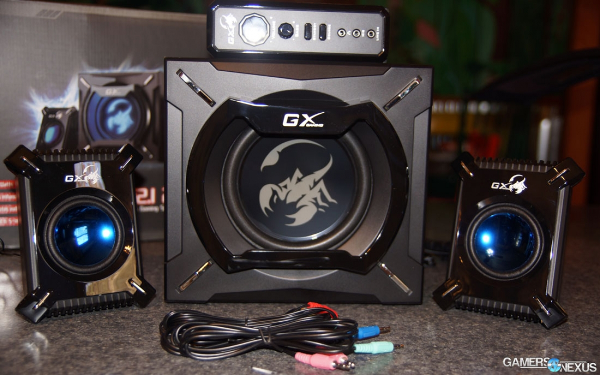 GX Gaming SW2.1 2000 Review: Versatile HTPC Gaming Speakers