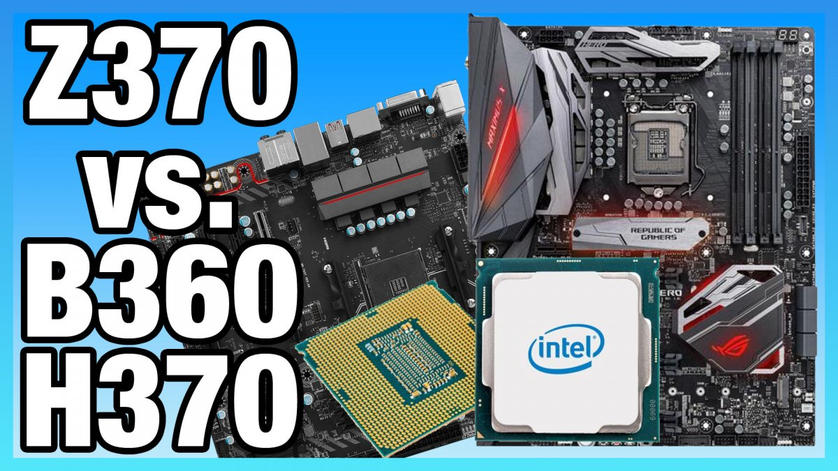 Intel B360 vs  Z370 Benchmarks & 2666MHz vs  3200MHz on i5