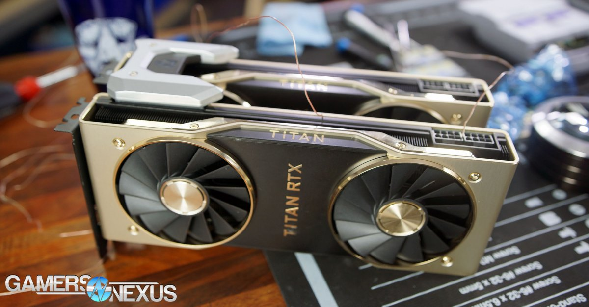 NVLink Titan RTX Benchmarks vs  2080 Ti SLI: Gaming & Power