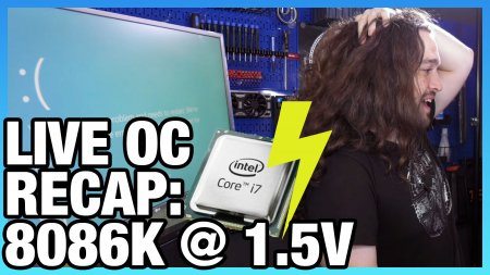 Stream Recap Live Overclock Results For Intel I7 8086k
