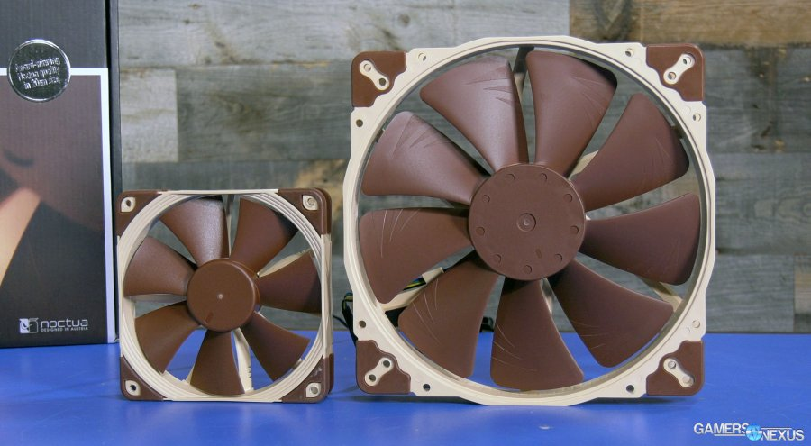 Noctua NF-A20 200mm Fan Review vs. Cooler Master MF200R