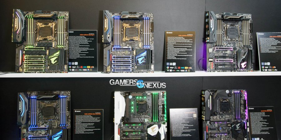 Gigabyte X299 Gaming 9, 7, 3, & UD4 at Computex (+ VRM Design)