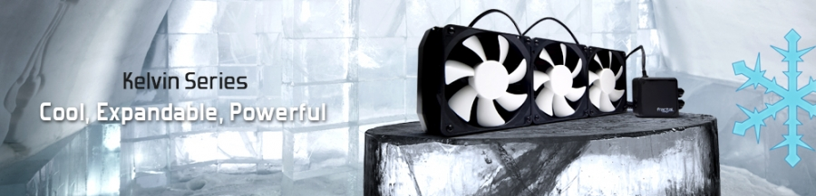"Fractal Design ""Kelvin"" - Expandable AIO Liquid Coolers for Enthusiasts"