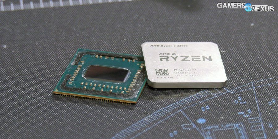 AMD R3 2200G Delid & Liquid Metal Thermals