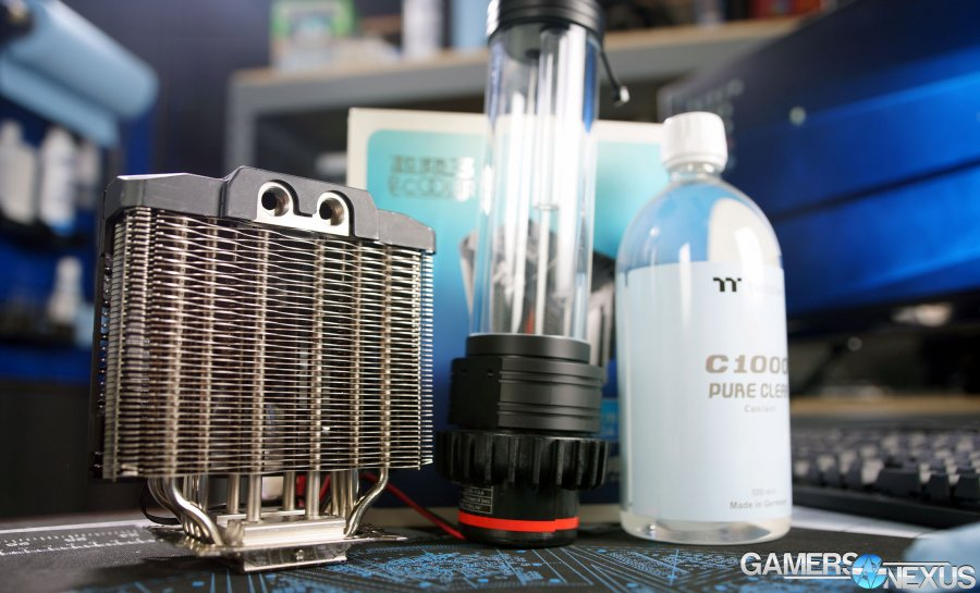 Hybrid Air+Water Cooler from AliExpress Tested (pccooler W120)