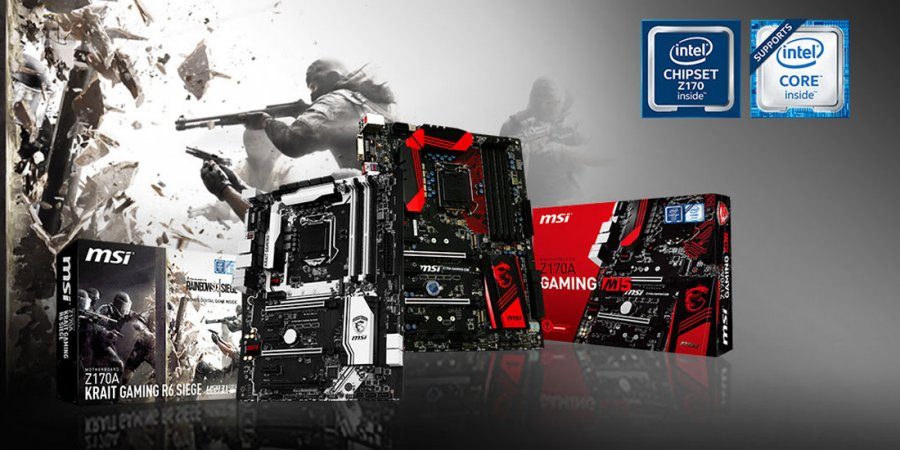 MSI Z170A Krait Gaming R6 Siege Motherboard Announced in Ubisoft Rainbow Six Bundle
