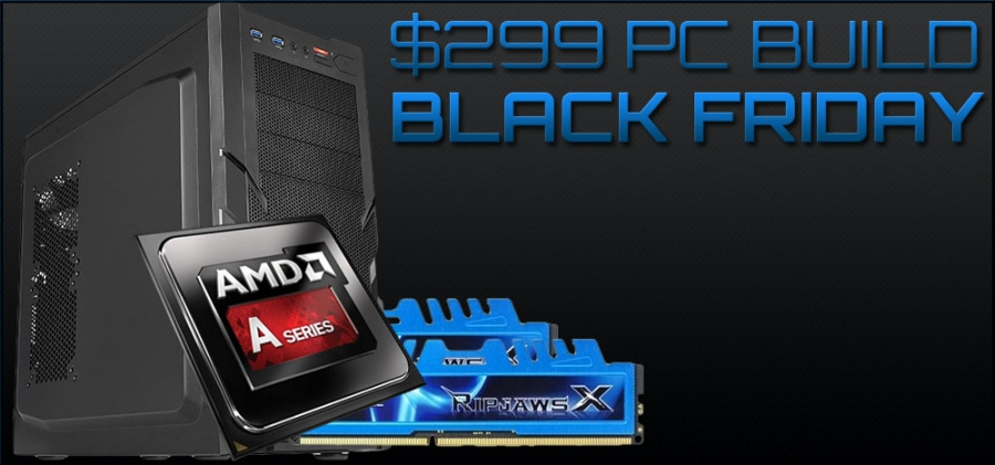 $299 Ultra Budget Gaming HTPC Build - Black Friday, 2014