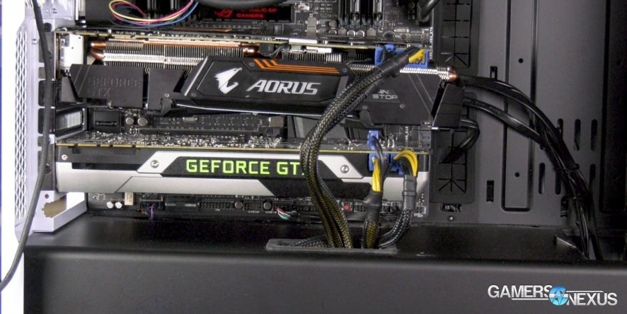 Video Card Sag Test: Thermals & Frequency on Drooping GPU