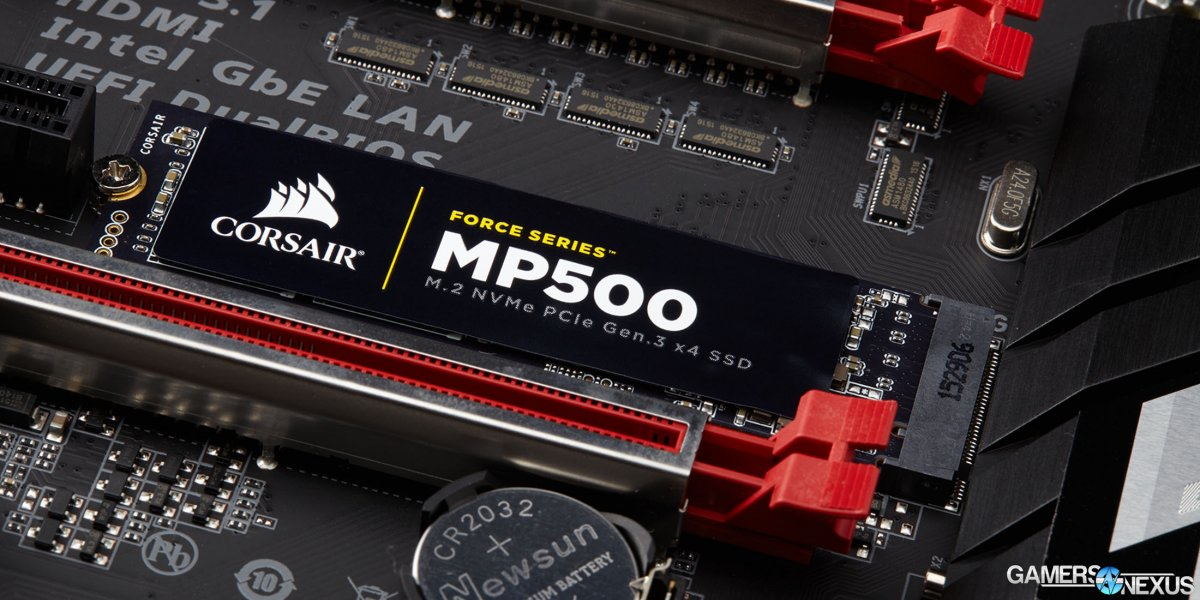 Corsair Re-Enters SSD Market with MP500 Force M.2 NVMe Drive