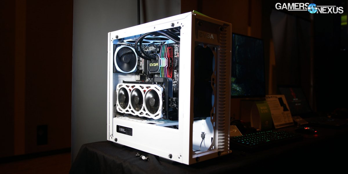 EVGA DG-77 White Case Hands-On at PAX West